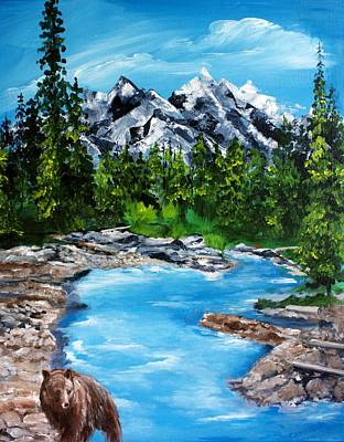 Poster featuring the painting Mountain Stream  by Ellen Canfield