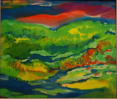 Poster featuring the painting Mountain Streams by Susan D Moody