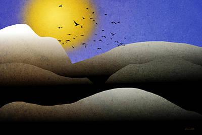 Mountain Sunset Landscape Art Poster by Christina Rollo