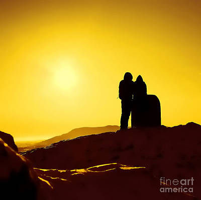 Poster featuring the photograph Mountain Top Sunset by Craig B