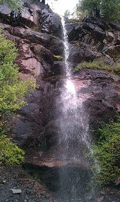 Poster featuring the photograph Mountain Waterfall by Fortunate Findings Shirley Dickerson