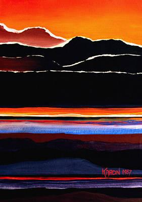 Mountains Abstract Poster by Karon Melillo DeVega
