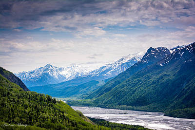 Mountains Along Seward Highway Poster