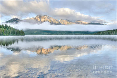 Poster featuring the photograph Mountains And Fog by Wanda Krack