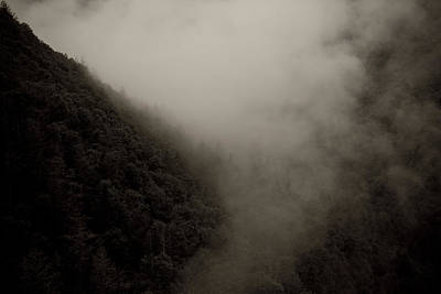 Mountains And Mist Poster by Shane Holsclaw
