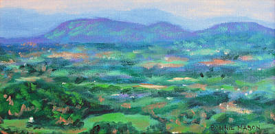 Mountains And Valleys- Summertime Along The Blue Ridge Parkway Poster