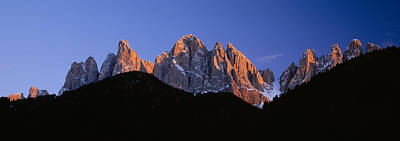 Mountains At Sunset, Dolomites, Val Di Poster by Panoramic Images