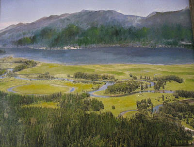 Mountains In Montana At Flathead Lake Poster