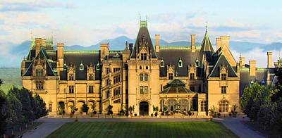 Mountains In The Shadow Of The Biltmore House Poster