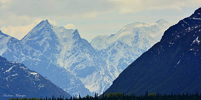 Mountains Near Matanuska Glacier Poster