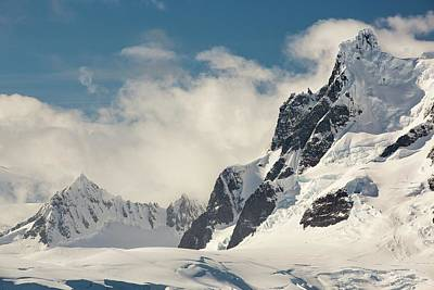 Mountains On The Antarctic Peninsular Poster by Ashley Cooper