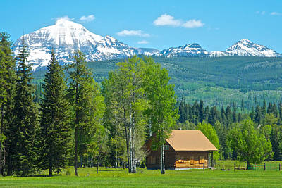 Mountains On West Side Of Glacier Np-mt Poster