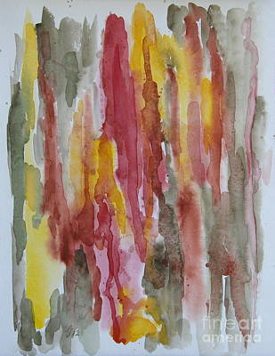 Mountainscape II - Watercolor Abstract Poster by Christiane Schulze Art And Photography