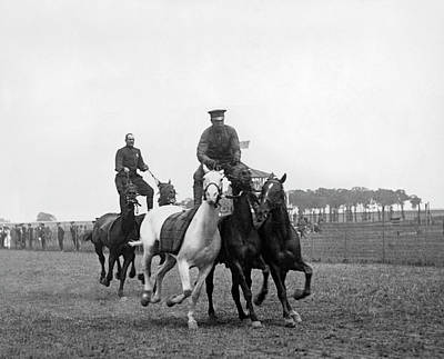 Mounted Police Stunts Poster by Underwood Archives