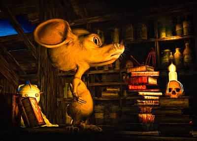 Mouse In The Attic Poster by Bob Orsillo