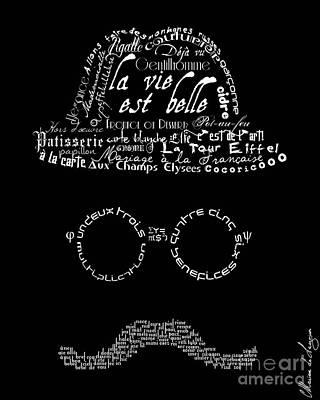 Moustache Man 1 Poster by Marion De Lauzun