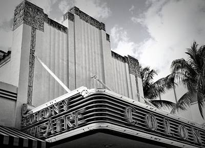 Movie Theater In Black And White Poster