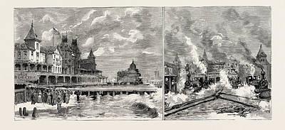 Moving The Brighton Beach Hotel, Coney Island, New York Poster