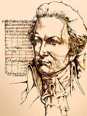 Mozart Poster by Derrick Higgins