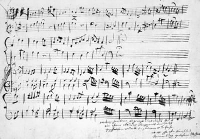 Mozart Minuet In G, 1762 Poster