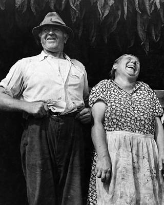 Mr And Mrs Andrew Lyman Polish Tobacco Farmers Near Windsor Poster by Historic Photos