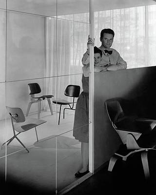 Mr And Mrs Charles Eames At The Museum Of Modern Poster by George Platt Lynes