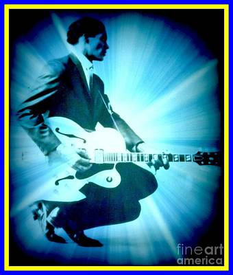 Mr Chuck Berry Blueberry Hill Style Edited Poster by Kelly Awad