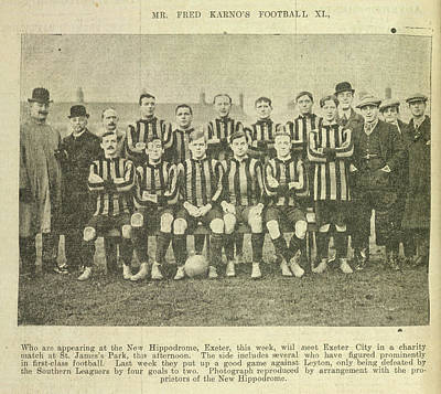 Mr Fred Karno's Football Xi Poster by British Library