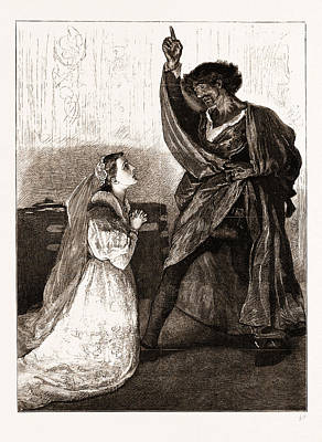 Mr. Irving And Miss Isabel Bateman In Othello At The Lyceum Poster