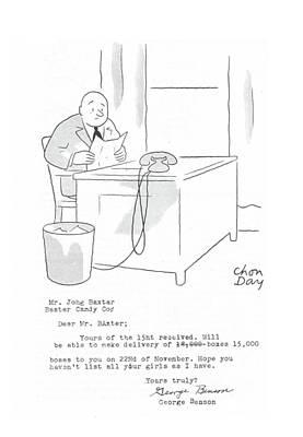 Mr. Johg Baxtar Baster Candy Co. Dear Mr. Baxter Poster by Chon Day