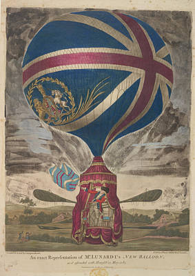 Mr. Lunardi's New Balloon Poster by British Library