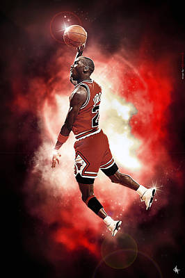 Mr. Michael Jeffrey Jordan Aka Air Jordan Mj Poster by Nicholas  Grunas