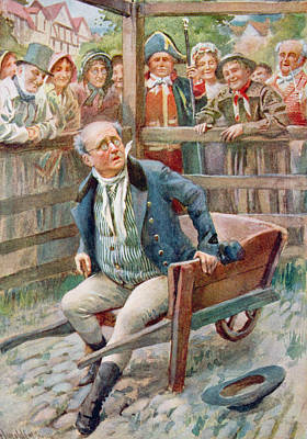 Mr Pickwick In The Pound, Illustration For Character Sketches From Dickens Compiled By B.w. Matz Poster by Harold Copping