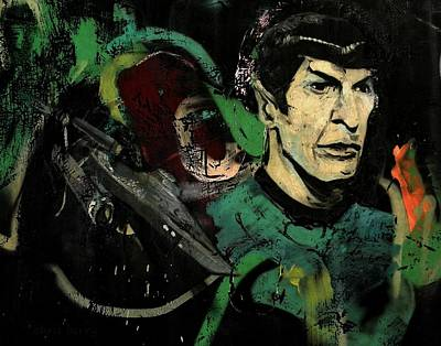 Mr Spock In Urban Mural Poster