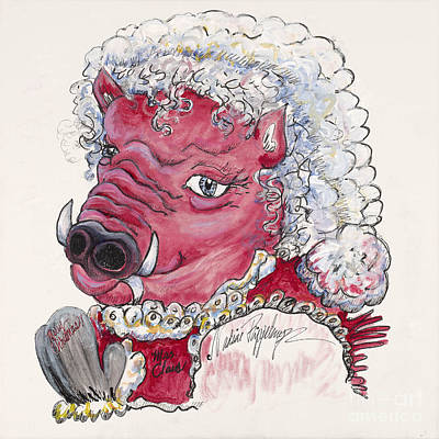 Mrs. Claus Hog Poster by Nadine Rippelmeyer