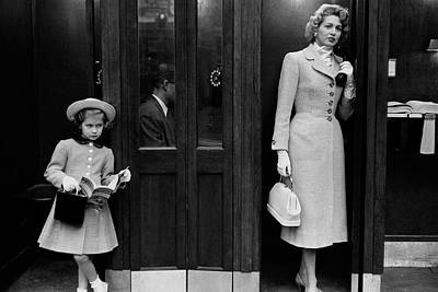 Mrs. Jeffrey Roche And Her Daughter Wearing Tweed Poster