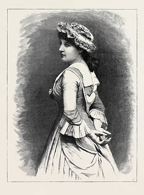 Mrs. Langtry As Miss Hardcastle In She Stoops To Conquer Poster