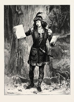 Mrs. Langtry As Rosalind In As You Like It At The St Poster