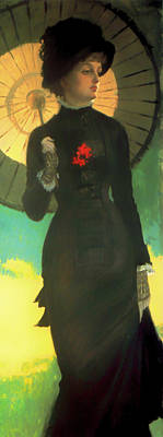 Mrs Newton With A Parasol Poster by Mountain Dreams
