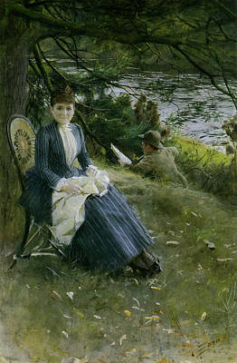 Mrs Symons In Scotland Poster by Anders Zorn
