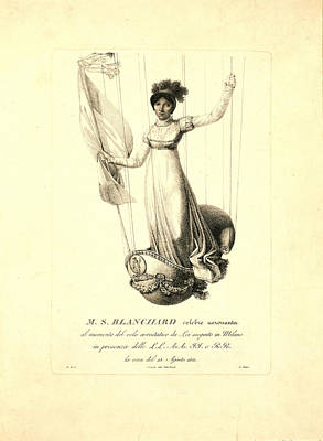 M.s. Blanchard,  Madeleine Sophie Armand French Aeronaut Poster
