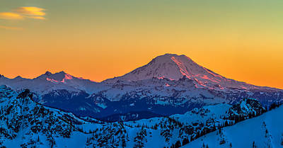 Mt Adams Sunset Review-2 Poster