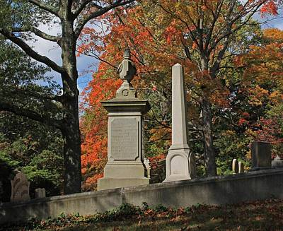 Mt Auburn Cemetery 10 Poster by Michael Saunders
