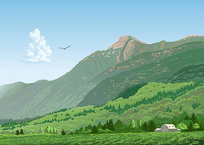 Mt Cheam In Summer Poster by Artellus Artworks