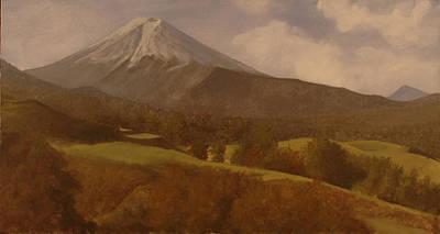 Mt. Fuji Poster by Rick Fitzsimons