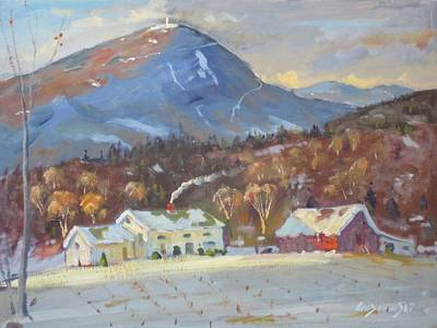 Mt Greylock From East Harbor Road Poster by Len Stomski
