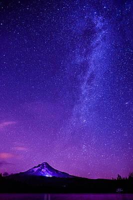 Mt. Hood Milky Way 01 Poster by Lori Grimmett