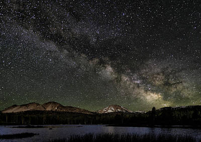 Mt Lassen And Milky Way Poster