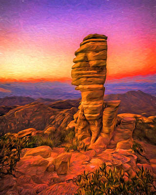 Mt. Lemmon Hoodoo Artistic Poster by Chris Bordeleau