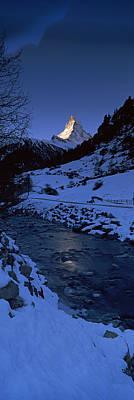 Mt Matterhorn From Zermatt, Valais Poster